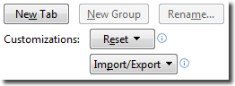 the import/export change file command